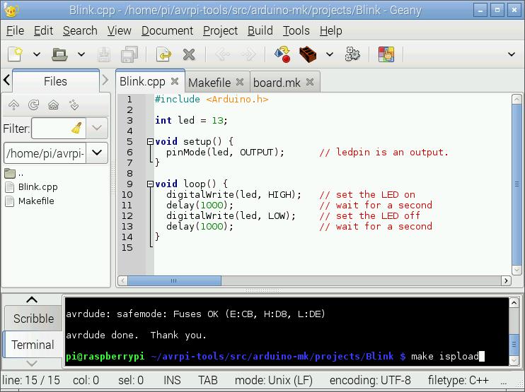 Onandoffables software avrpi u arduino makefile